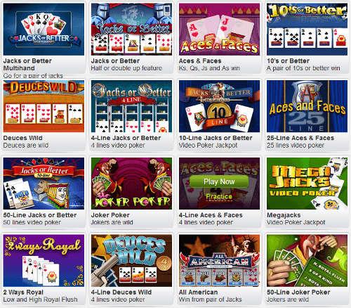 william-hill-casino-video-poker-variations