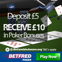Betfred Poker Promotion Code & Review