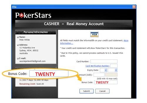 Bonus Pokerstars 100k